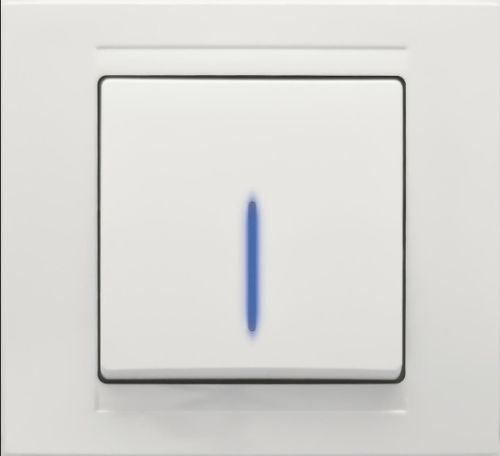 wechselschalter mit blauer beleuchtung steckverbindung schalter taster reinwei ebay. Black Bedroom Furniture Sets. Home Design Ideas